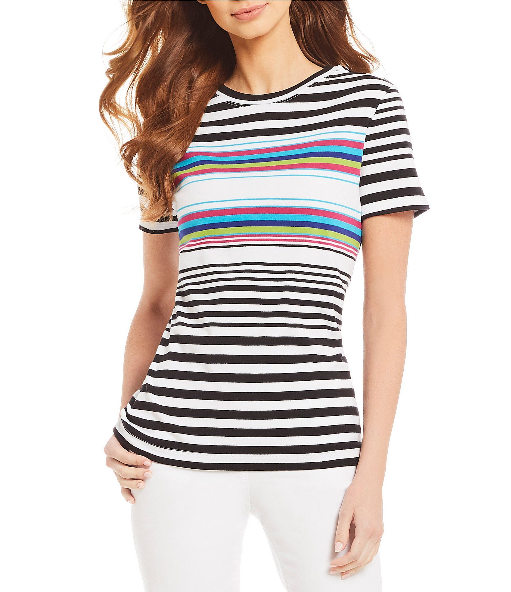 870f1975b5be8 Shop for Westbound Short Sleeve Stripe Crew Neck Tee at Dillards.com. Visit  Dillards.com to find clothing