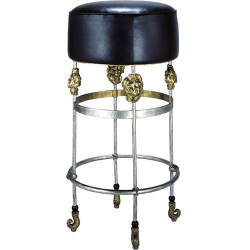 Terrific Flambeau Lighting Armory Gold Leaf Bar Stool Si1050 Gmtry Best Dining Table And Chair Ideas Images Gmtryco