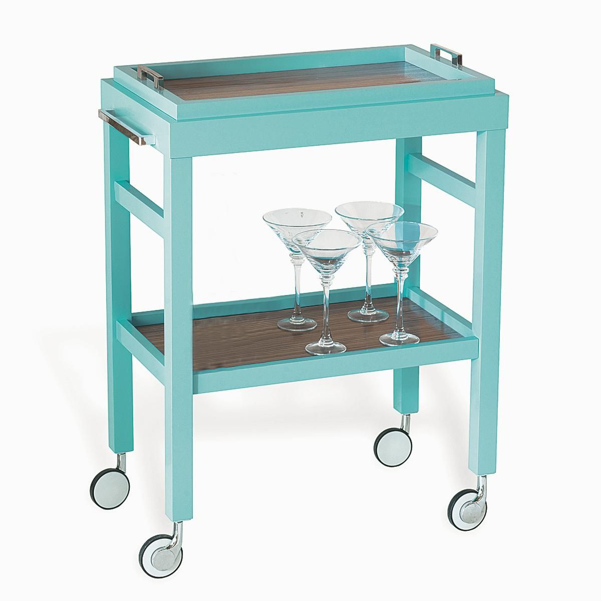 Rolling Bar Cart with Removable Tray Top | Bar carts, Trays and Wood ...