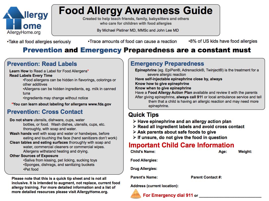 Food Allergy Awareness Guide Food Allergies Awareness Food Allergies Allergy Awareness