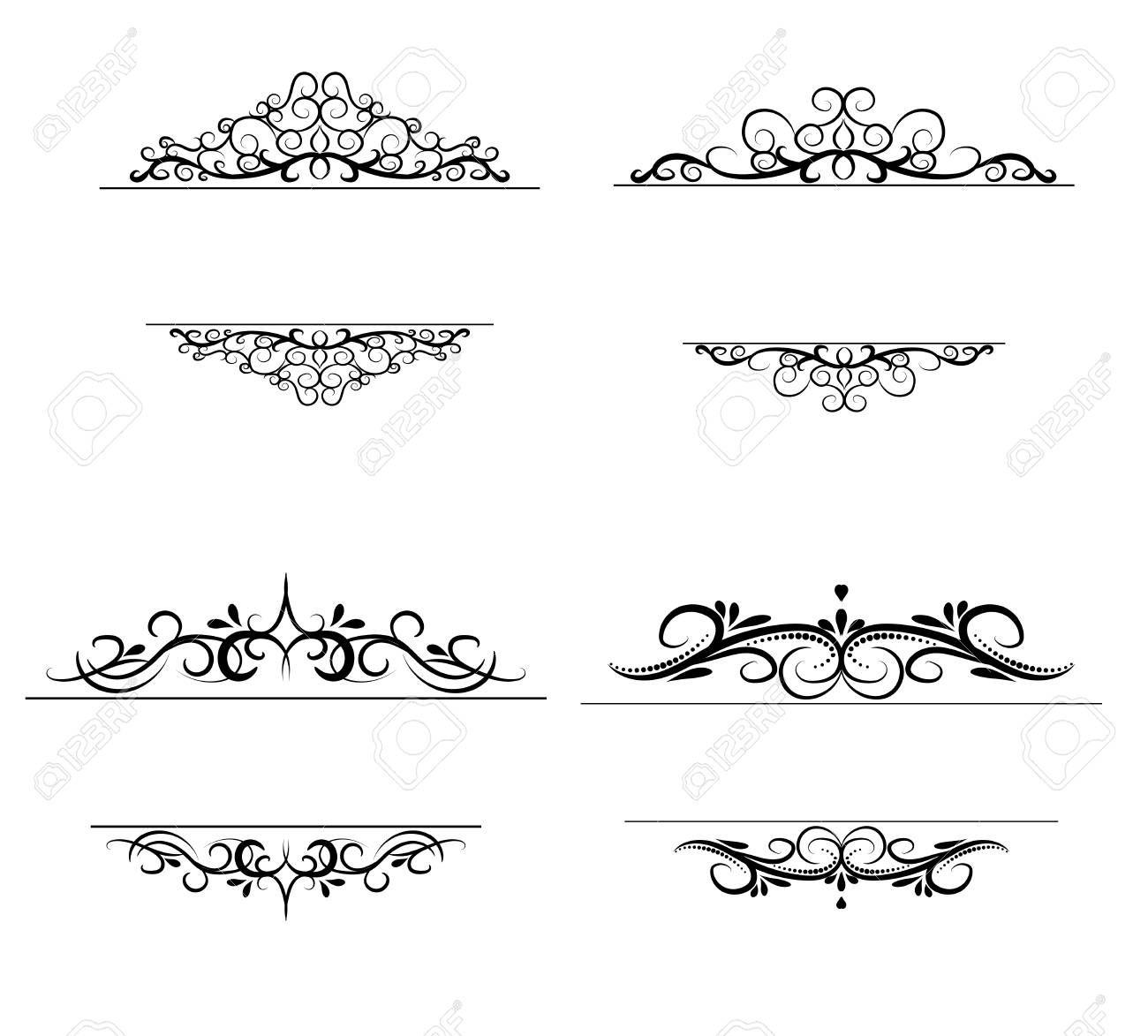 Vintage Vector Swirl Frame Set Ad Vector Vintage Swirl Set Frame In 2020 Design Art Graphic Design Art Graphic Design