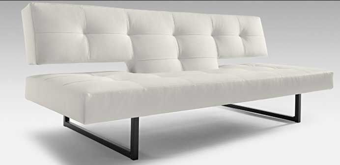 837 40 Spacer Contemporary Sofa White Or Black With Images White Leather Sofa Bed