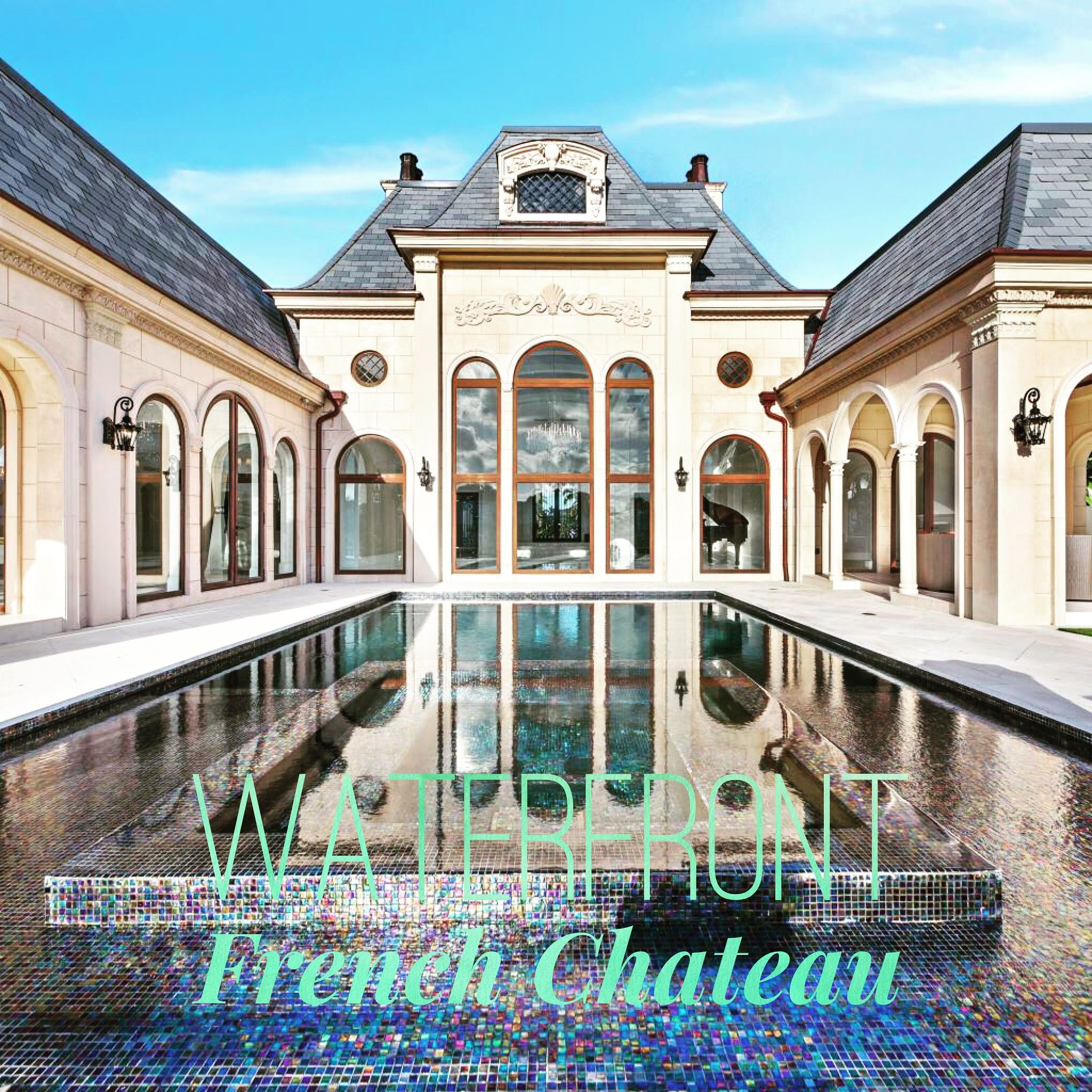 New Waterfront French Chateau With 4 Bd 4 2 Ba 6 368 Sf Stunning Architectural Details In Jupiter Florida Te Palm Beach Living Beach Living Jupiter Florida
