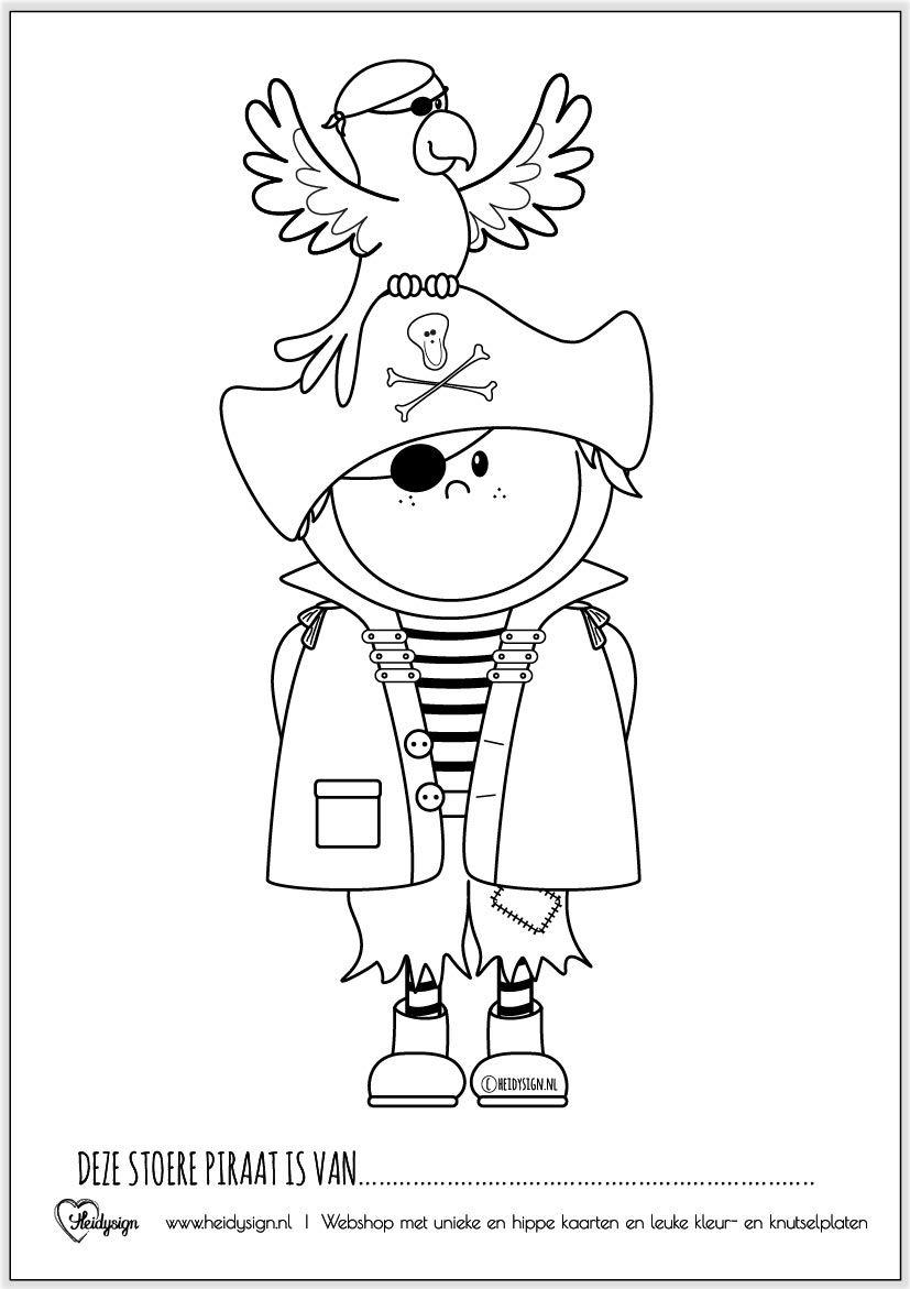 Kleurplaat Piraat Met Papegaai Gratis Download Kleurplaten Gratis Kleurplaten Kinderfeestje