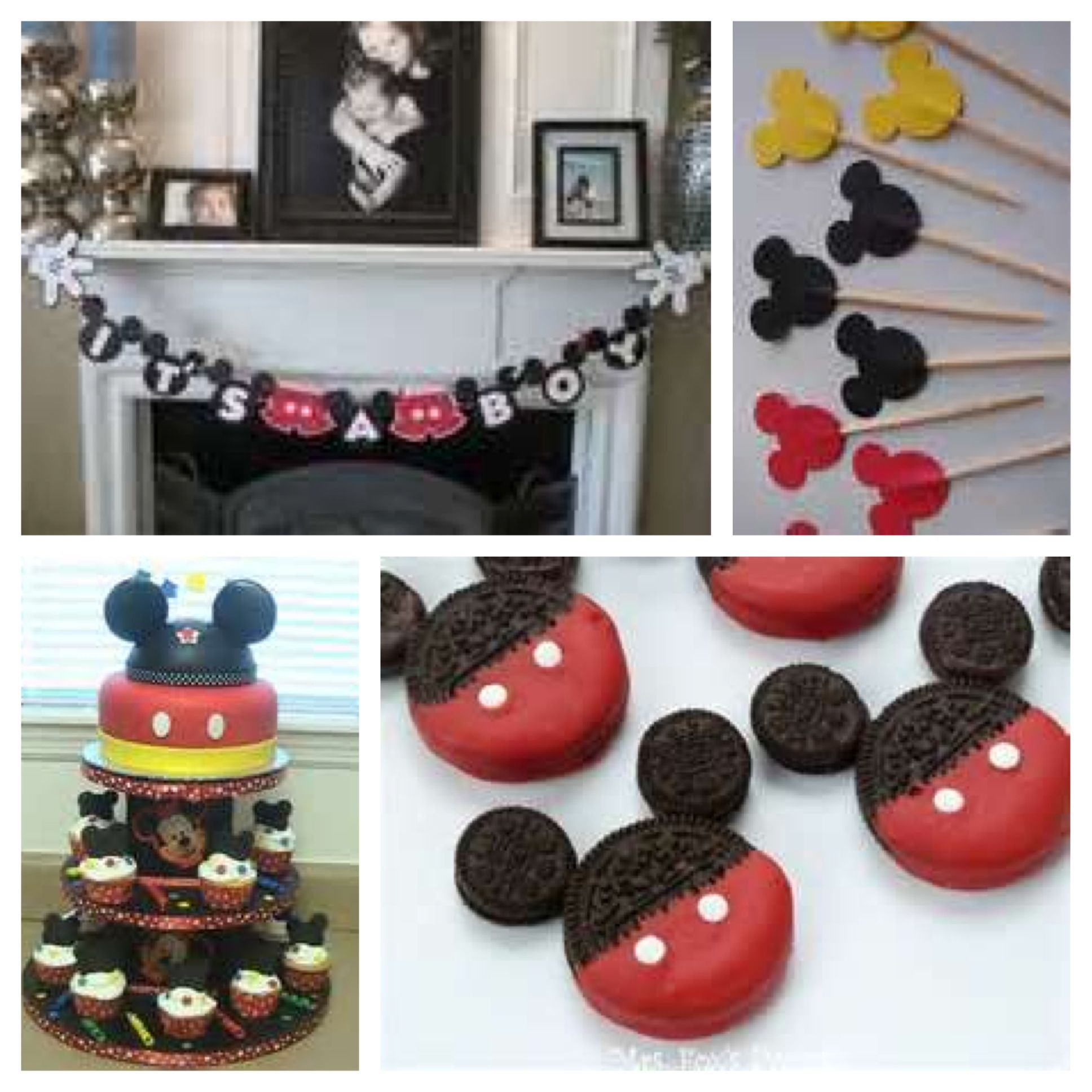 Mickey mouse baby shower theme baby shower ideas for Baby mickey mouse decoration