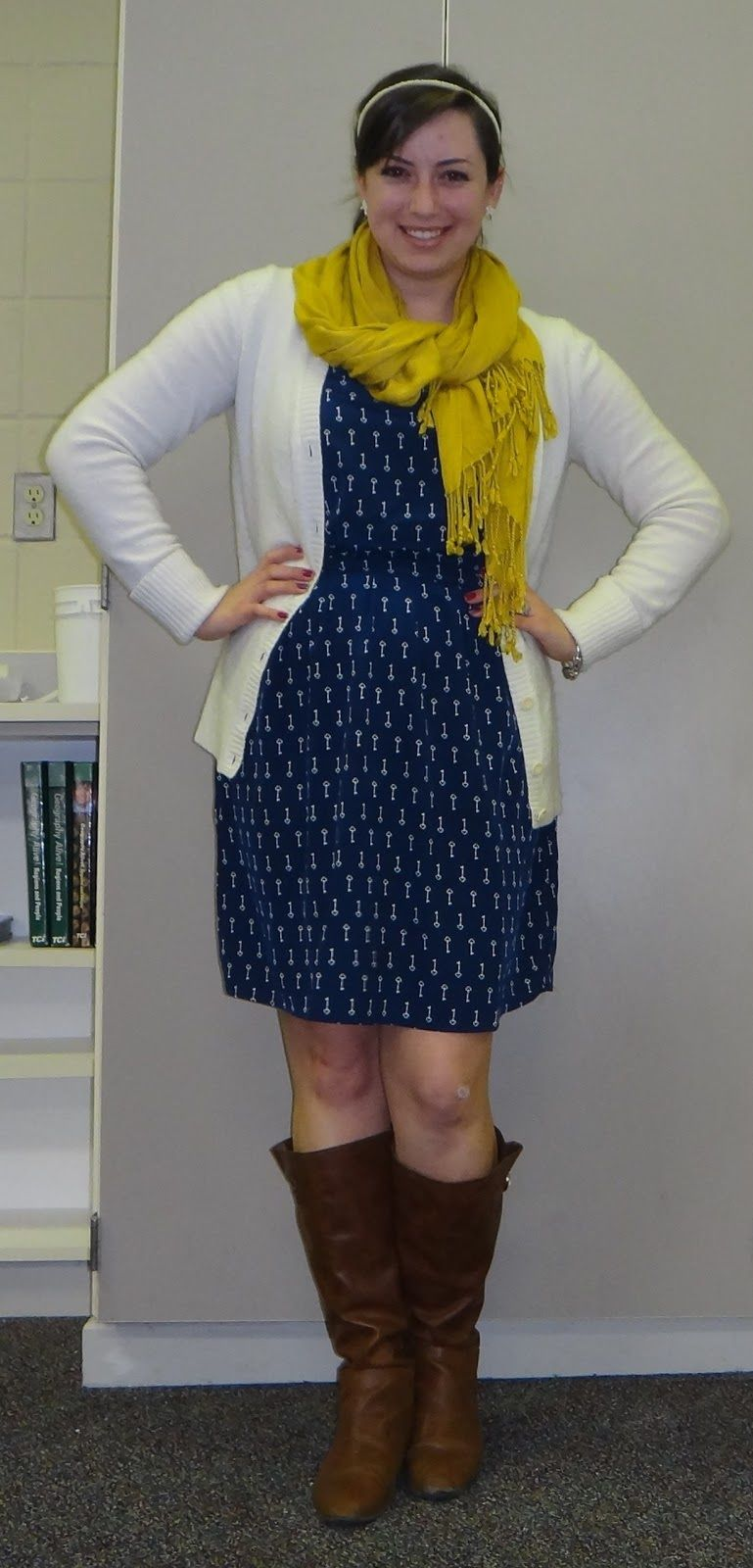 pre-sorted] Blue and white print dress (could use polka dots ...