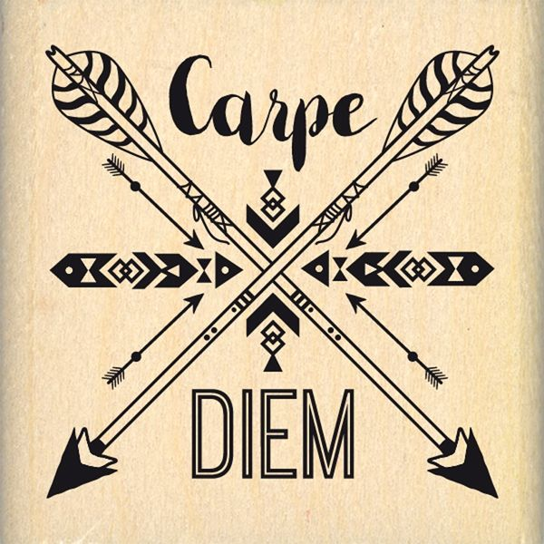 Tampon bois carpe diem fl ch project life pinterest for Carpe chinoise prix