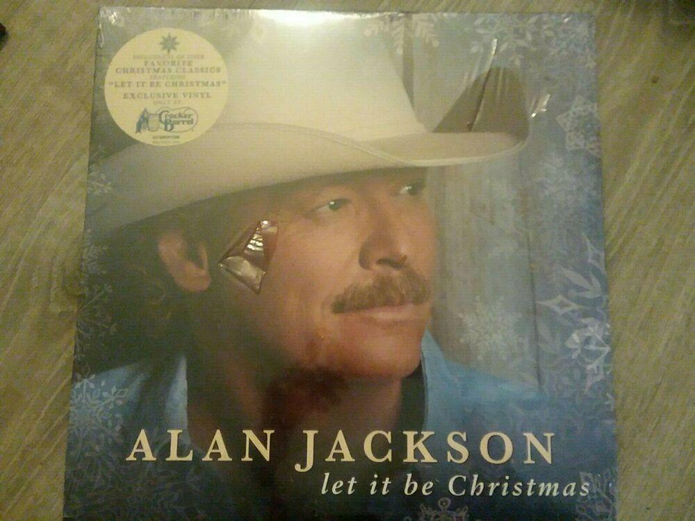 Alan Jackson Let It Be Christmas Vinyl Album Cracker Barrel