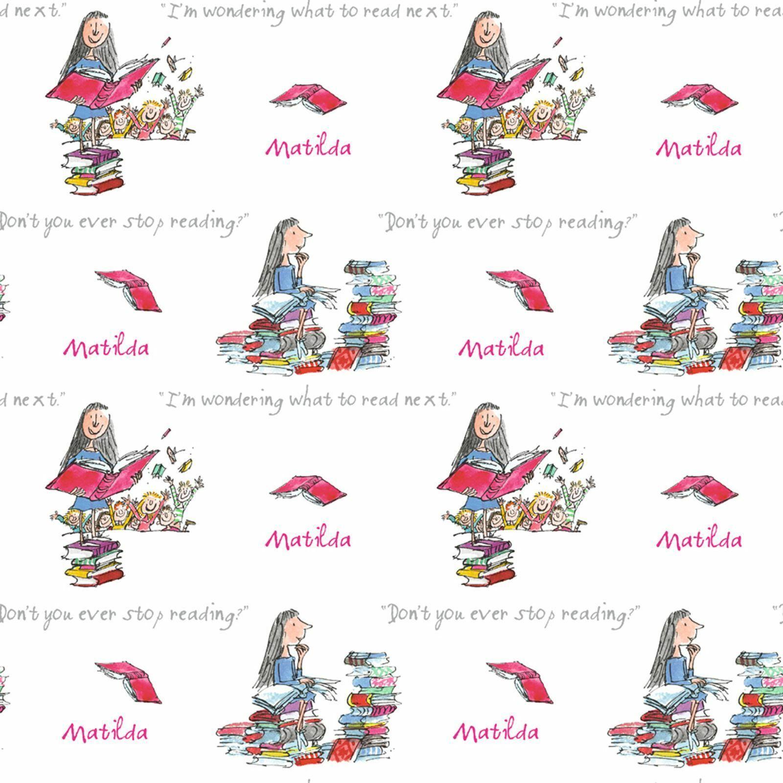 Roald Dahl Matilda Wallpaper Rolls