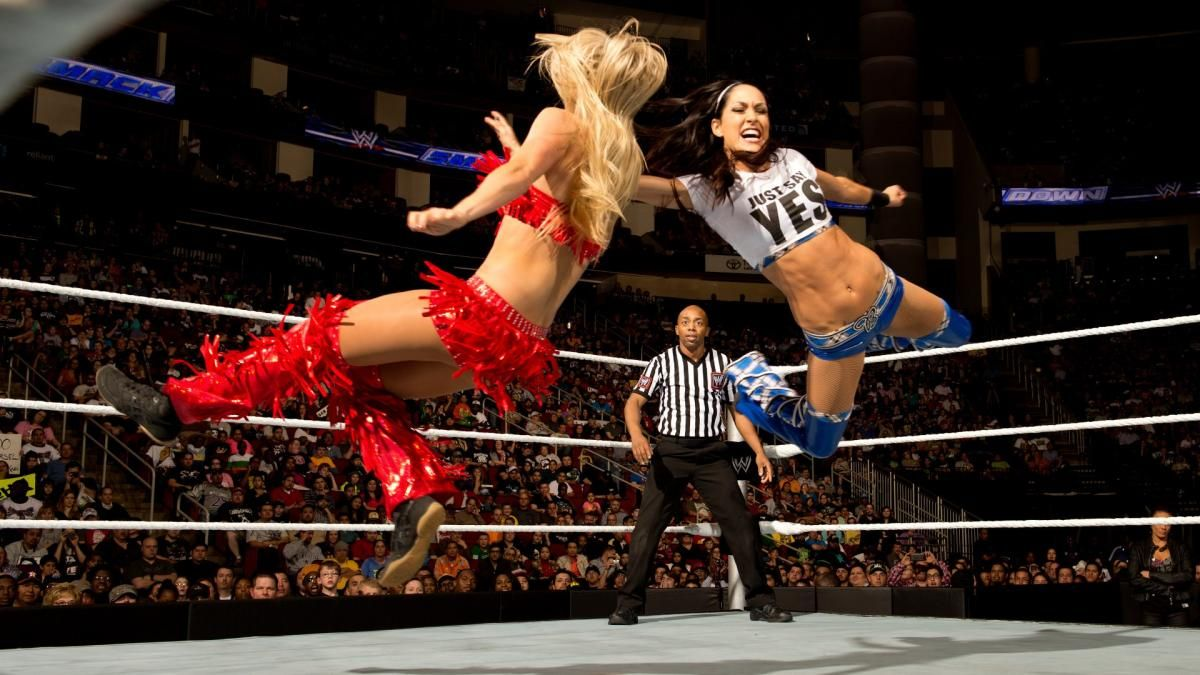 Photos Take A Look Back At Nikki Brie Bella S Hall Of Fame Career In 2020 Bella Twins Tamina Snuka Brie Bella