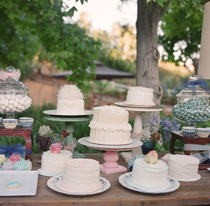 yumsville ~ eclectic, home made cakes at wedding dessert bar http://su.pr/2iC9fR