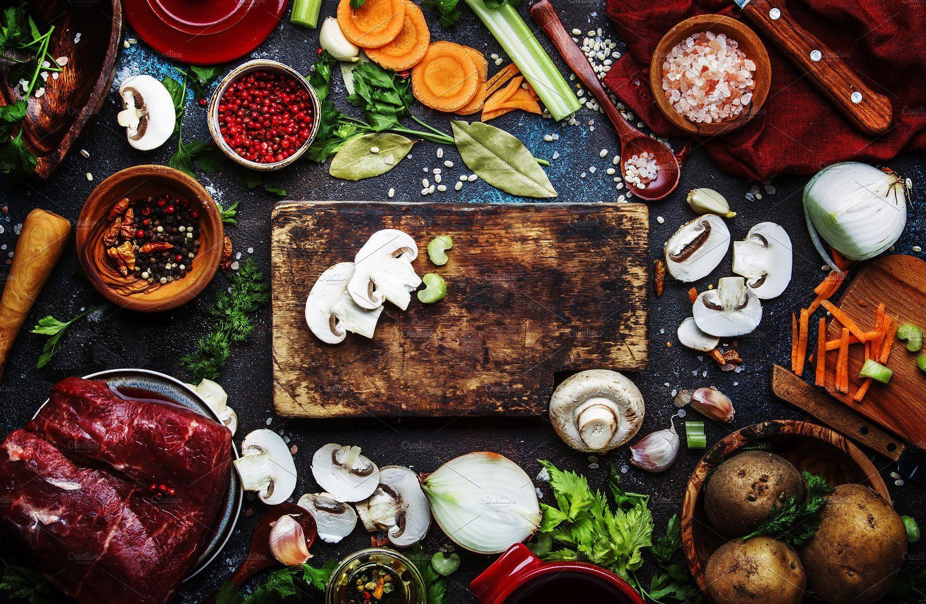 Fresh Organic Vegetables Ingredient Healthy Cooking Organic