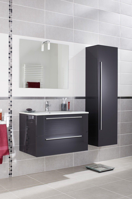 Meuble Salle De Bain Girona ensemble meuble de salle de bains plan verre sans