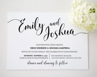Hochzeit Einladung Vorlage. Druckbare Von Invitationstemplates