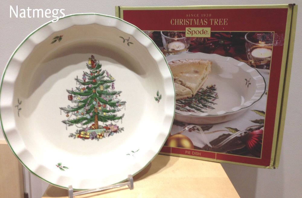 Spode Christmas Tree Fluted Sculpted Pie Serving Dish Gift Boxed Free Pp Uk Spode Christmas Tree Christmas Tableware Spode