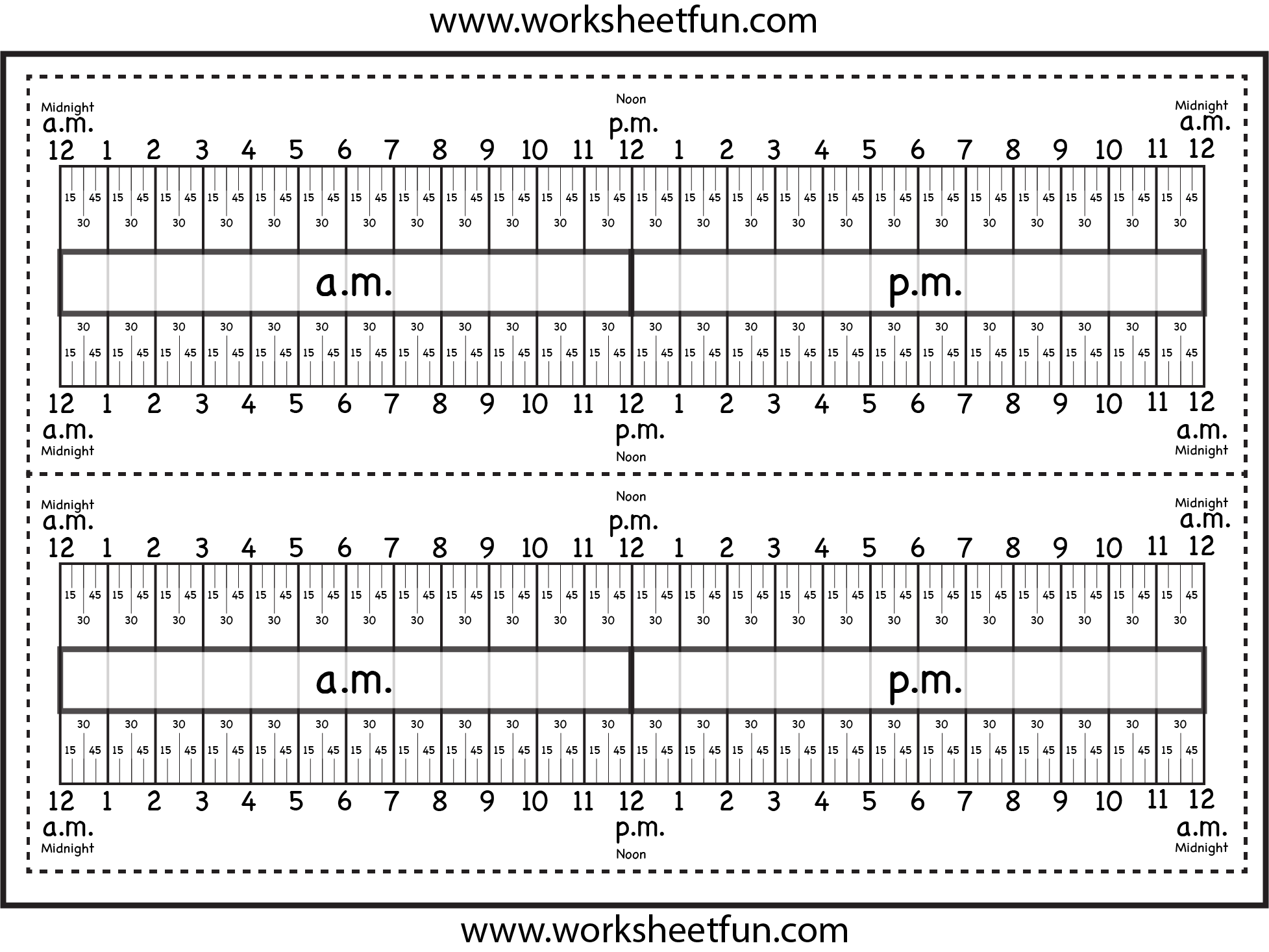 Level 3 – Elapsed Time Ruler – Two Worksheets   Time worksheets [ 1466 x 1955 Pixel ]