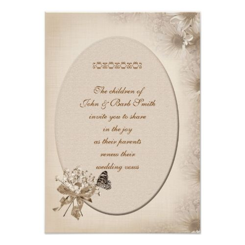 Butterfly RSVP Wedding Cards Daisy Vow Renewal Card