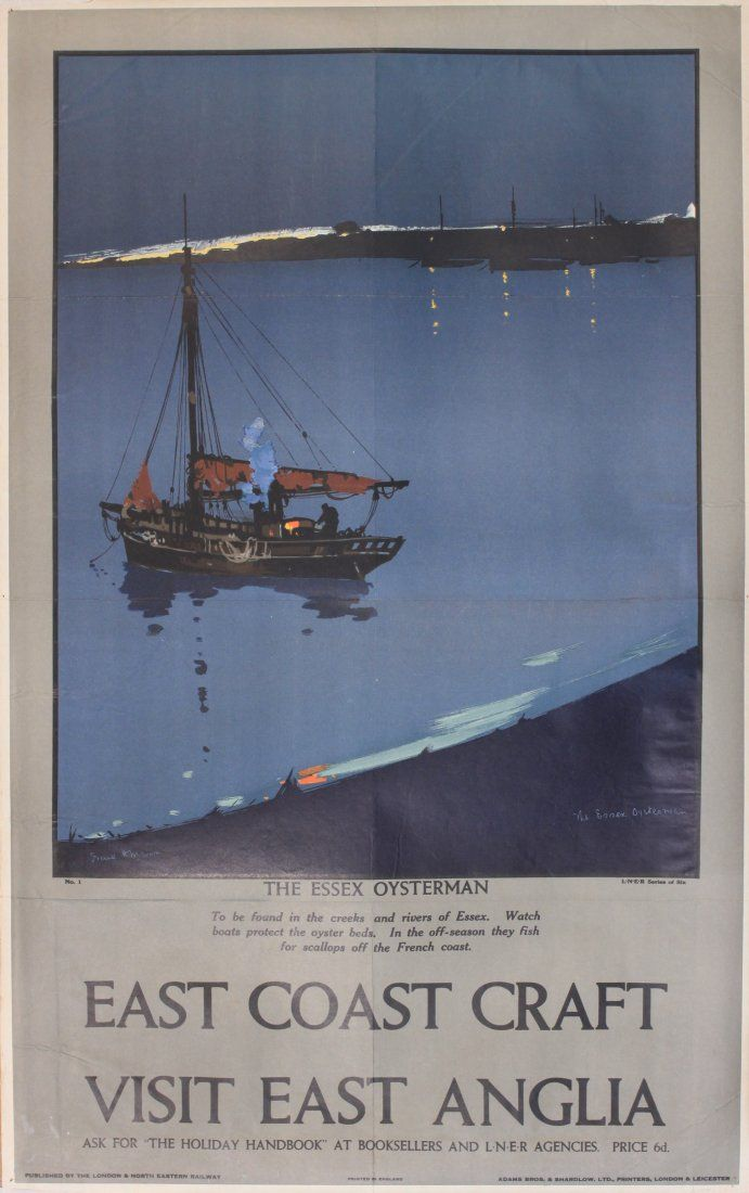 Vintage LNER St Andrews Fish Dock Hull  Railway Poster A3//A2//A1 Print