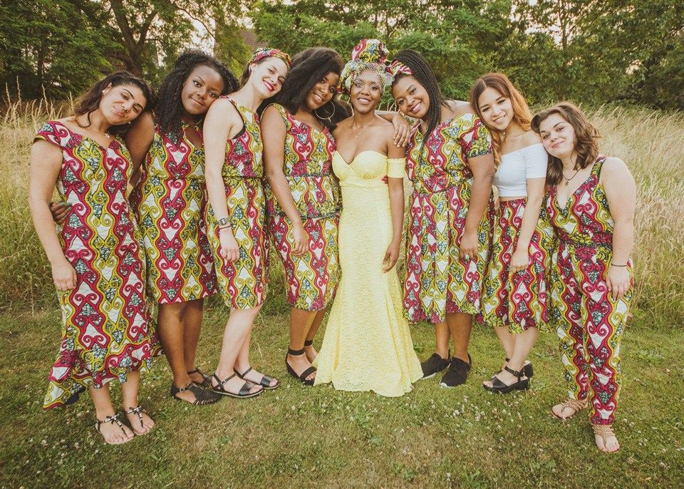 A Colourful Zambian Kitchen Party Dresses Uk Traditional