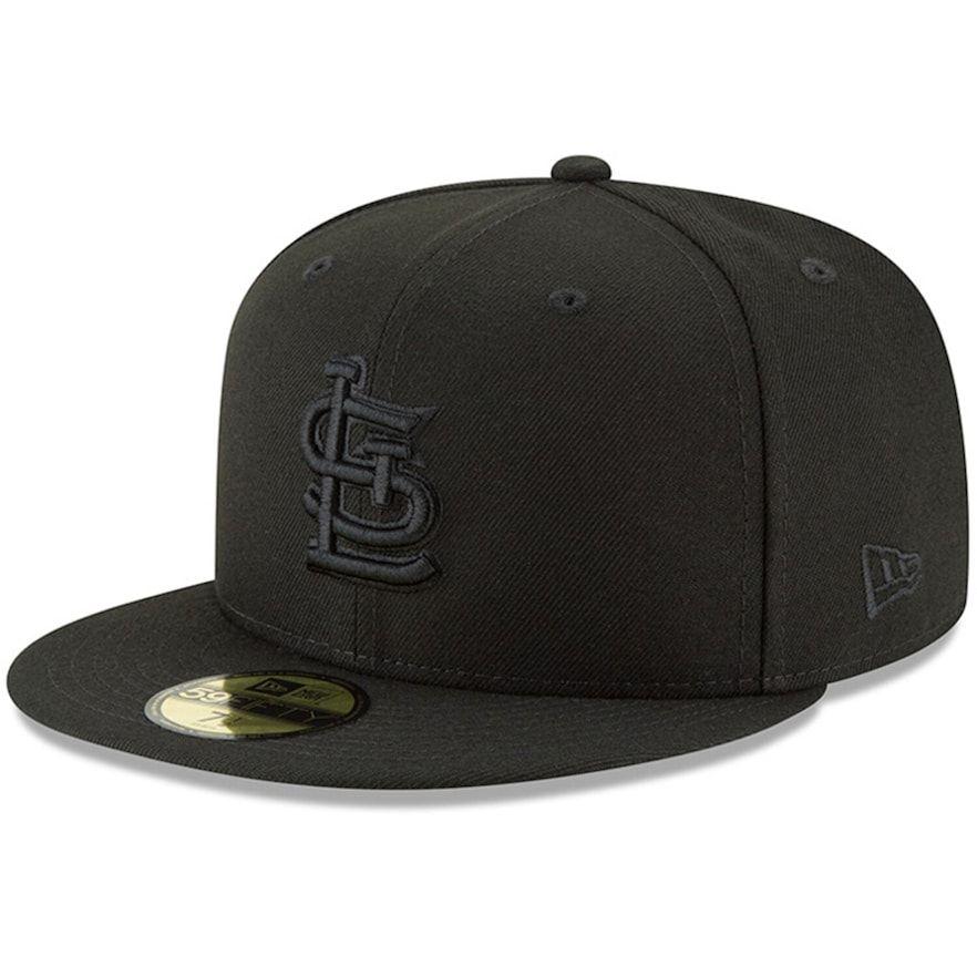 Mens new era black st louis cardinals primary logo basic