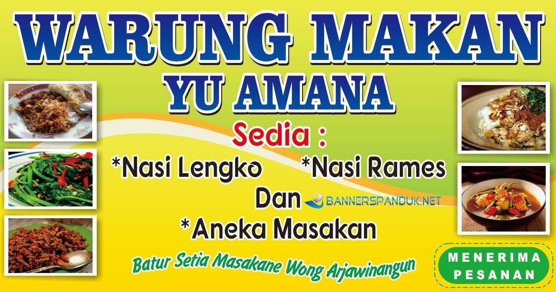 25+ Best Looking For Contoh Banner Warung Makan