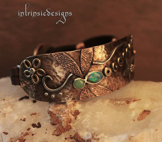 RESERVED for CANDICE Leather Bracelet with by IntrinsicDesignsArt