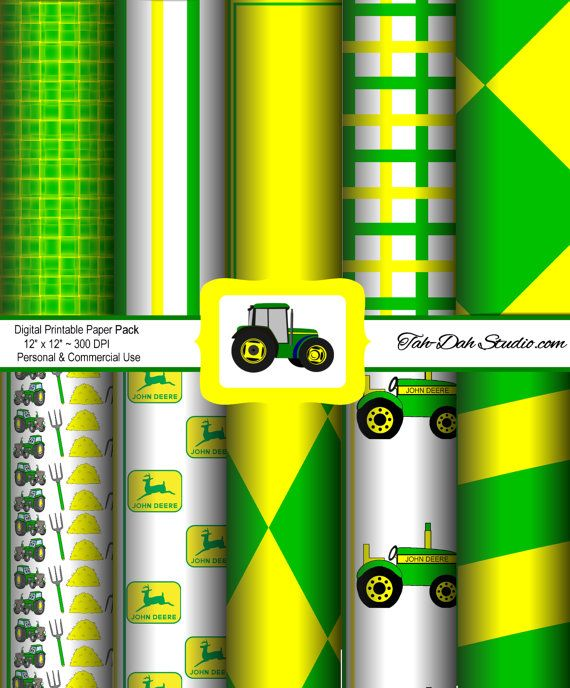 John Deere Background Papers Farm Tractor Green Resizeable Quick