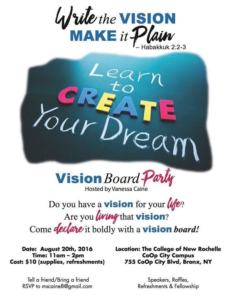Vision Board Flyer Vision Board Party Vision Board Workshop Vision Board