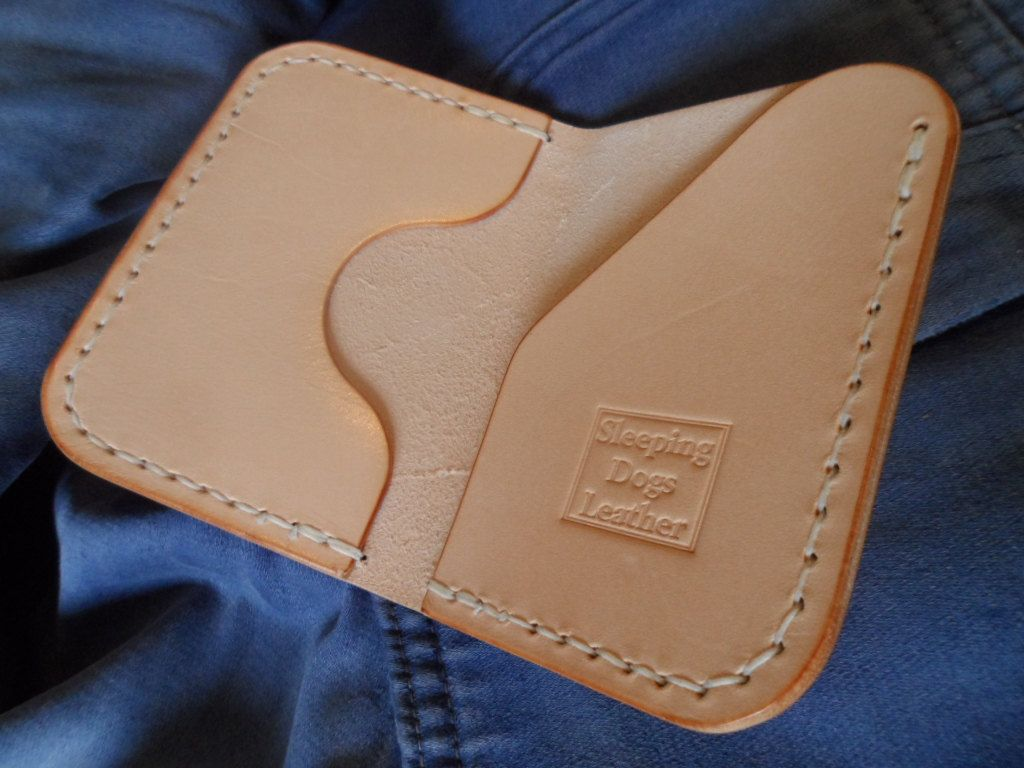 Leather wallet, 'The Wheelright' Handmade, hand stitched. by SleepingDogsLeather on Etsy