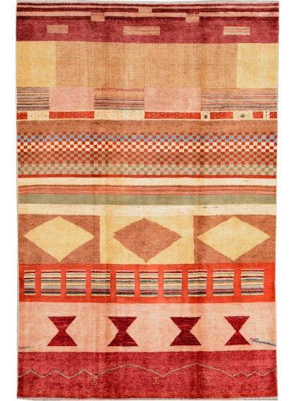Multi Colored Oriental Gabbeh Rug 6 X 9 1 Ft No 16114 Gabbeh Rug Rugs Oriental Persian Rugs