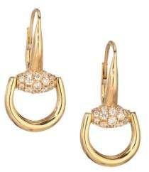 9aba3fe0e Gucci Horsebit Diamond & 18K Yellow Gold Drop Earrings #Gucci #earring # ShopStyle #MyShopStyle click link for more information