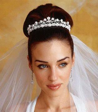 Tiara Around Bun Bride Hairstyles Bridal Hair Pictures Best Wedding Hairstyles