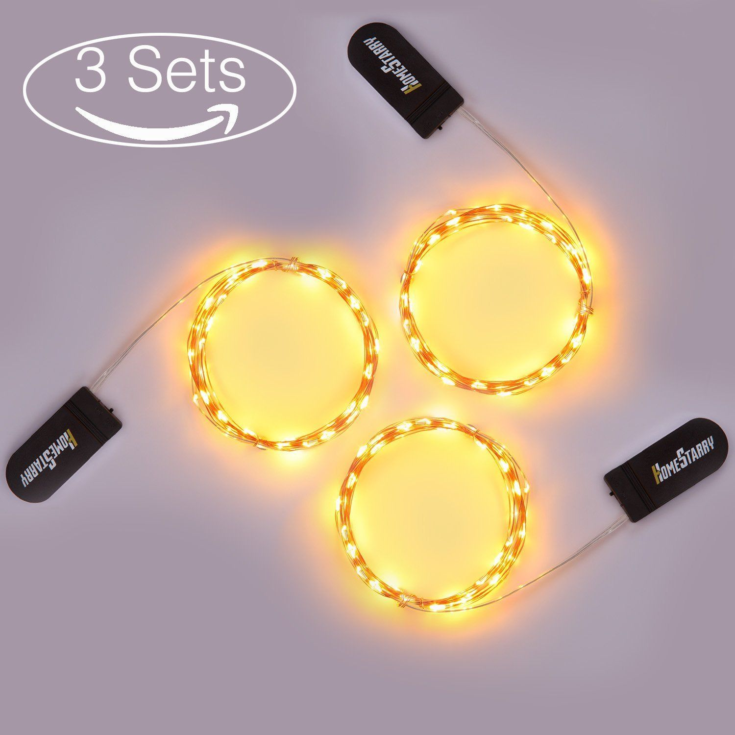 Homestarry 3 Sets 30 Warm White Color Micro Led String