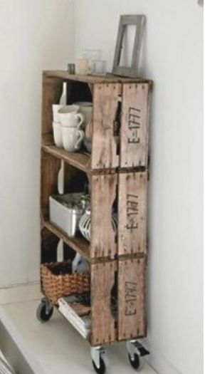 diy deco meuble simple a faire avec des cagettes en bois. Black Bedroom Furniture Sets. Home Design Ideas