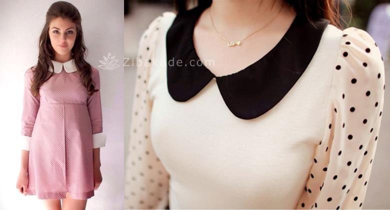آموزش یقه ب ب مسطح و یقه ب ب پایه دار به روش مولر Fashion Long Sleeve Blouse Detachable Collar