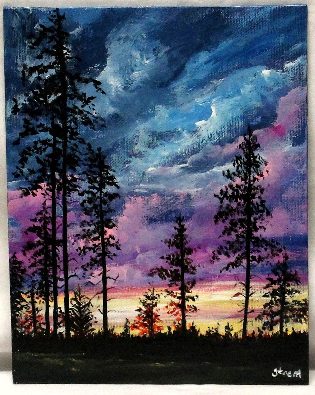 The Look Of Peace Acrylic Painting Trees Landscape Paintings Acrylic Art Painting Acrylic