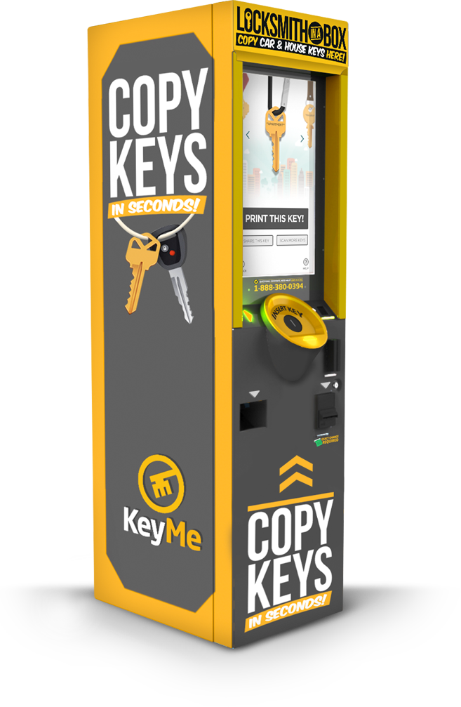 The KeyMe Kiosk at Lowes allows you to securely store digital copies