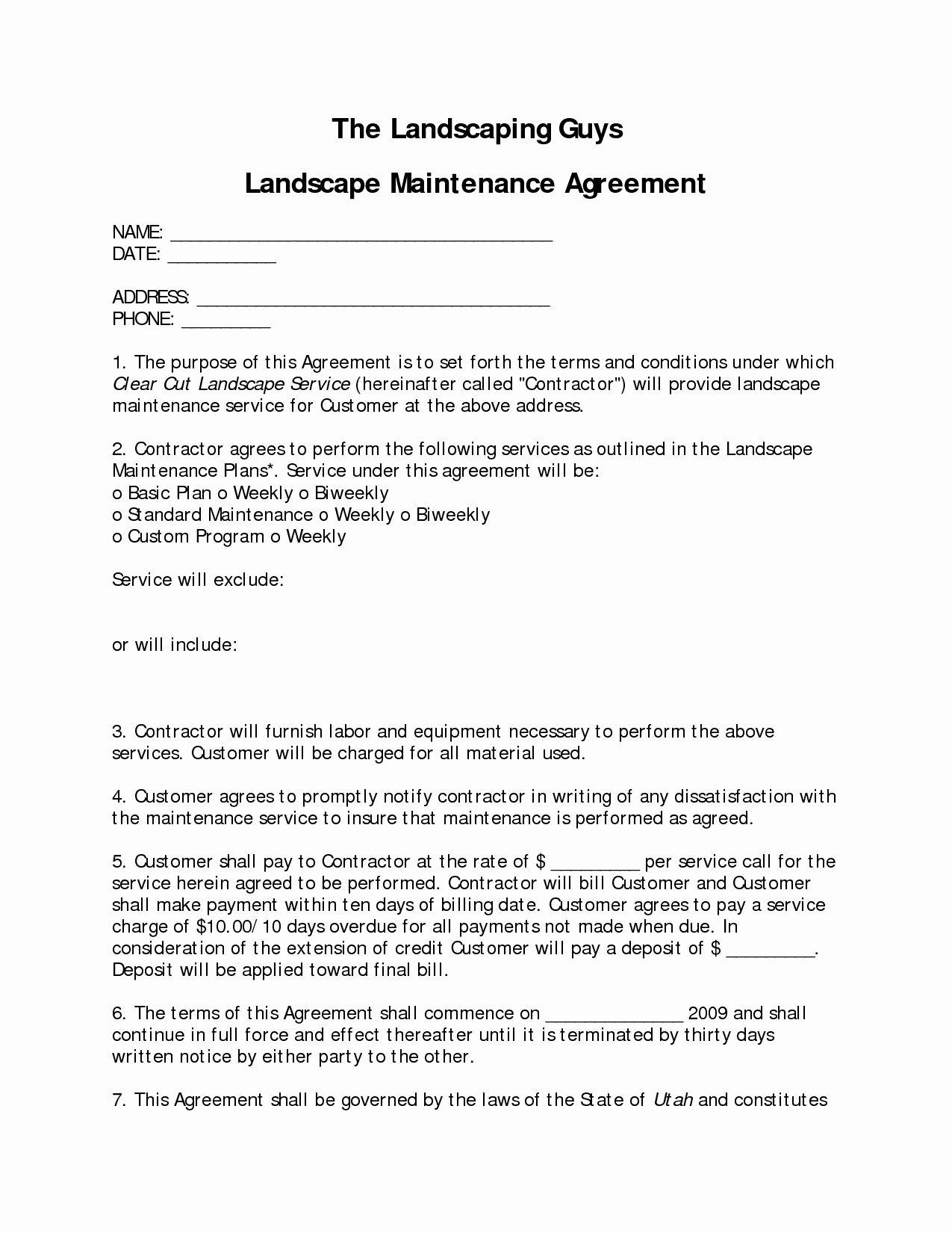 Landscape Maintenance Contract Template Inspirational Marvelous Landscape Contract 9 Landsca Landscape Services Landscape Maintenance Landscape Design Services