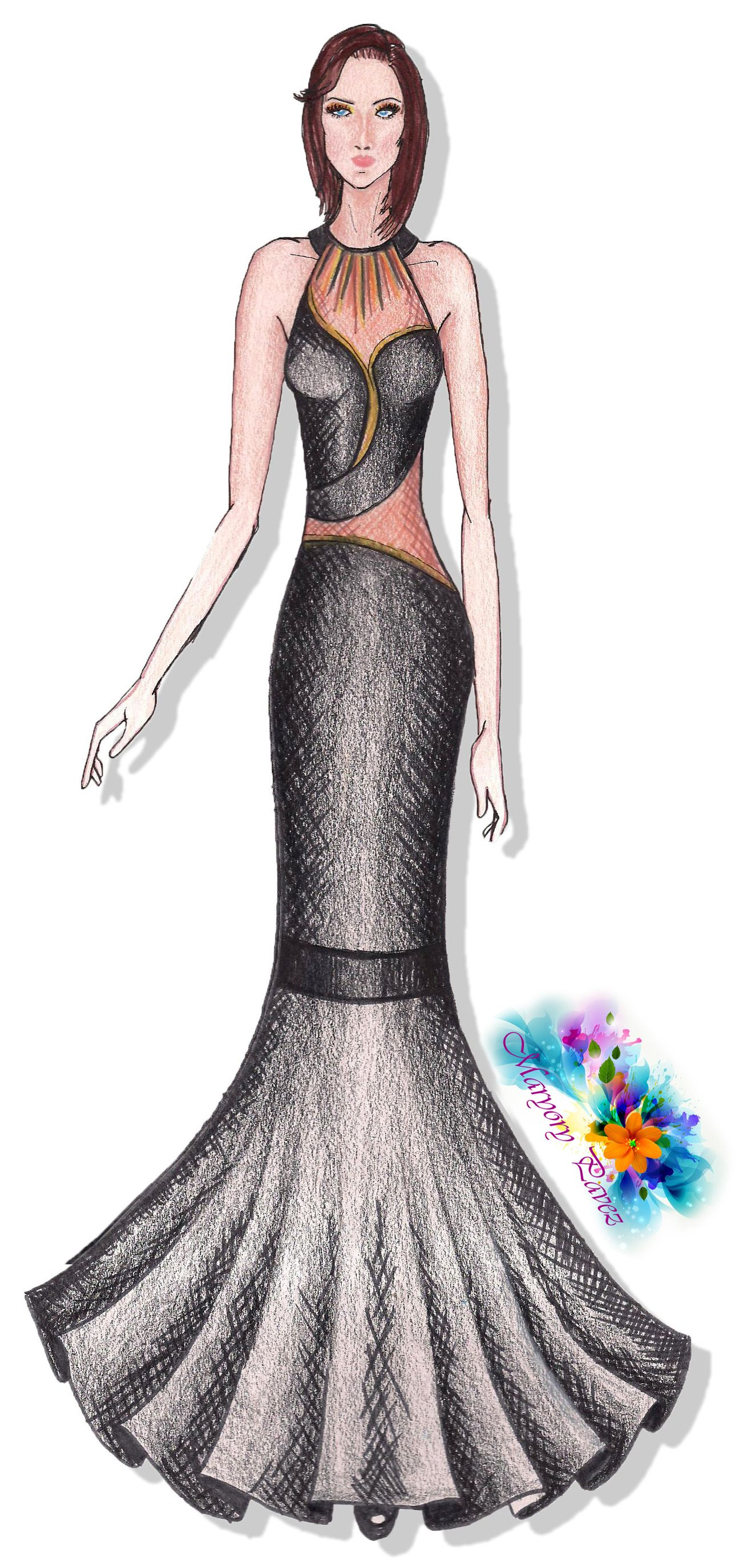 Dise o ramo alta costura figurines de moda pinterest - Diseno alta costura ...