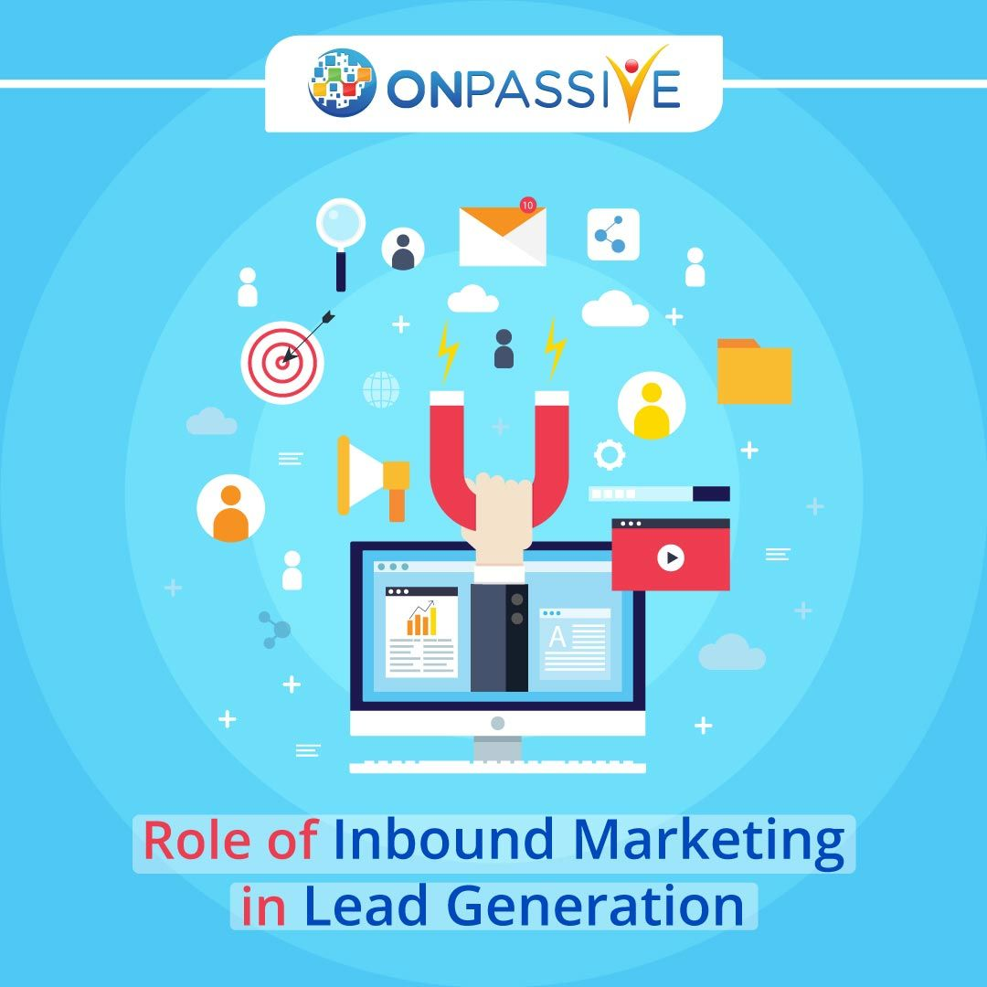 Role Of Inbound Marketing In Lead Generation Onpassive In 2020 Inbound Marketing Lead Generation Marketing Inbound Marketing Strategy