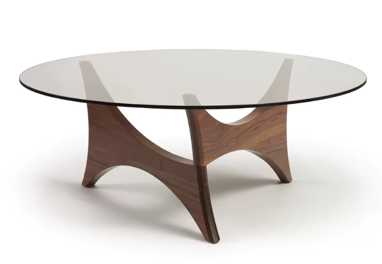 Pivot Statements Coffee Table Glass Dinning Table Wood Pedestal Table Base Dining Table