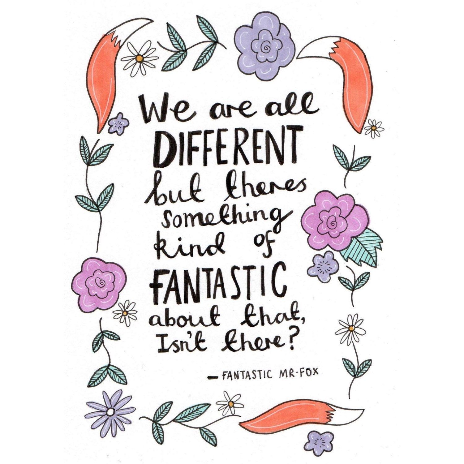 Fantastic Mr Fox A5 Quote Print Fantastic Mr Fox Quotes Fox Quotes Roald Dahl Quotes