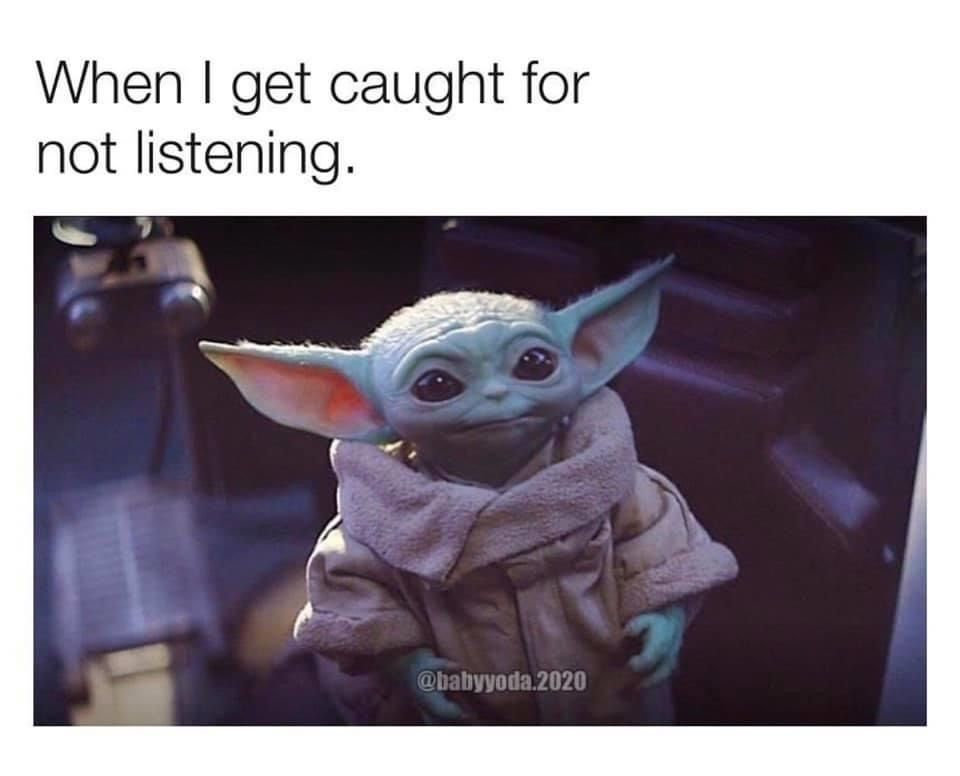 Pin By Ellen On Humor Funny In 2020 Funny Pictures Yoda Funny