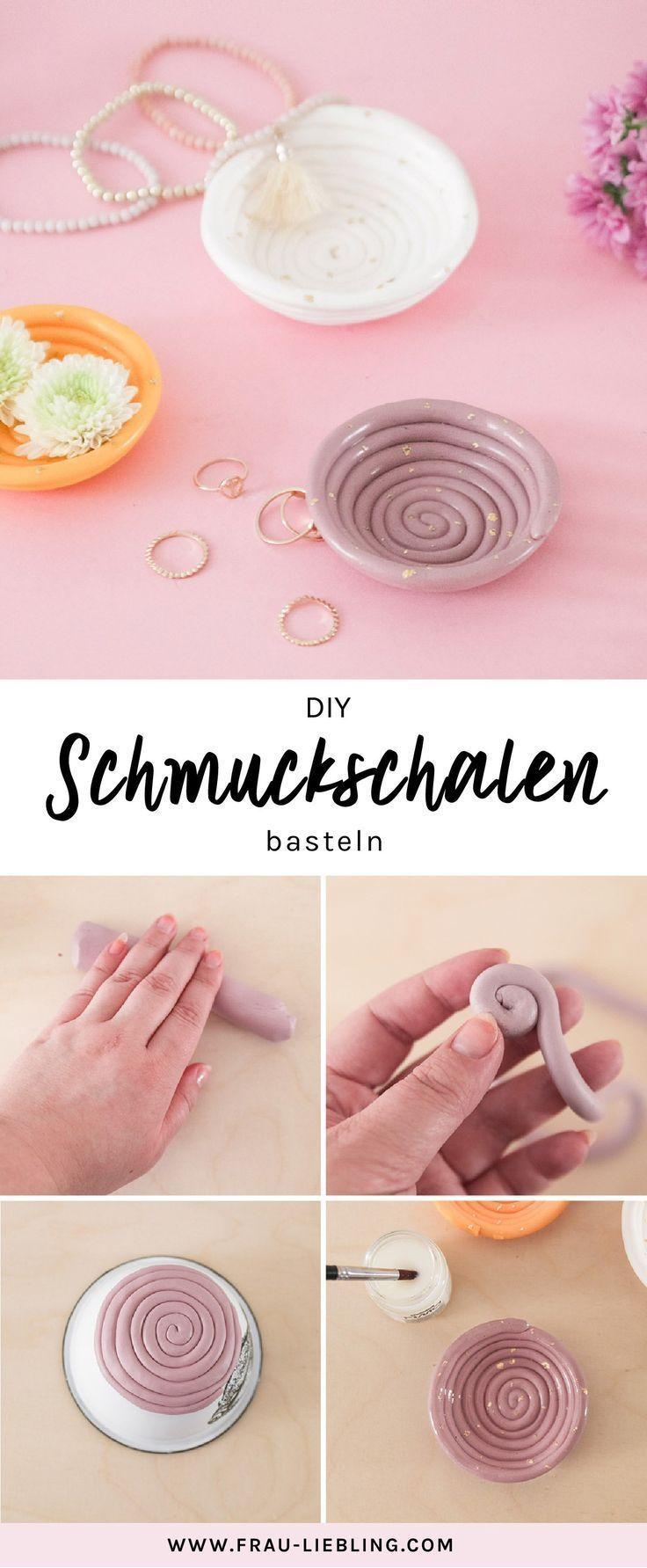 Photo of DIY Schmuckschalen aus Fimo selber mit Blattgold