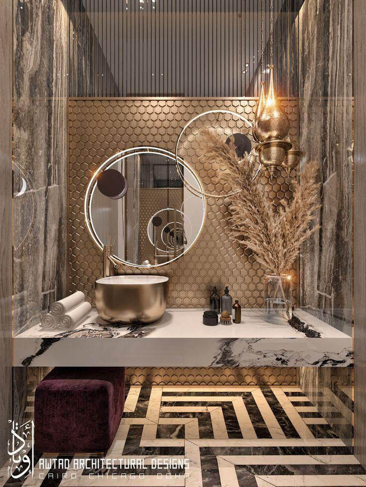 Luxurious guest toilet
