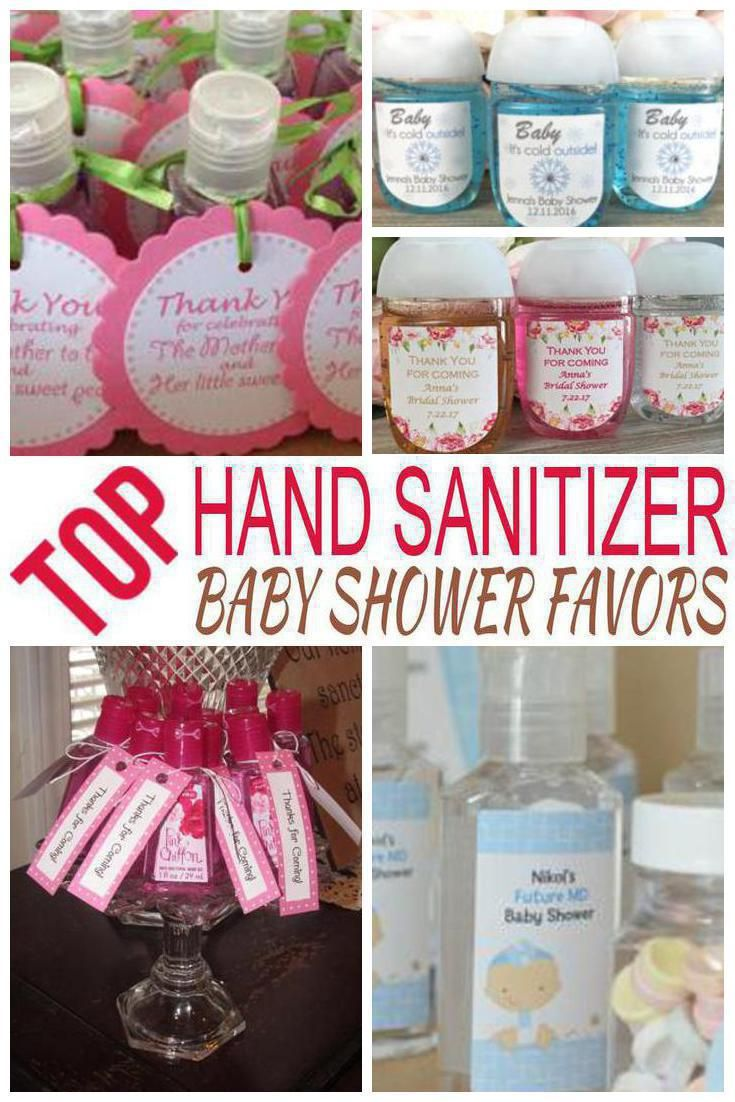 Hand Sanitizer Baby Shower Favors Best Baby Shower Party Favor