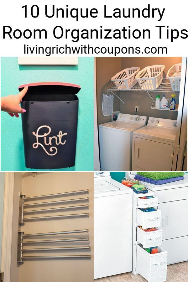 Here are my top 10 Unique Laundry Room Organization Tips to get you organized in not time. #laundryroomorganization #organization