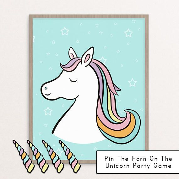 Unicorn Birthday Game Little Girl Party
