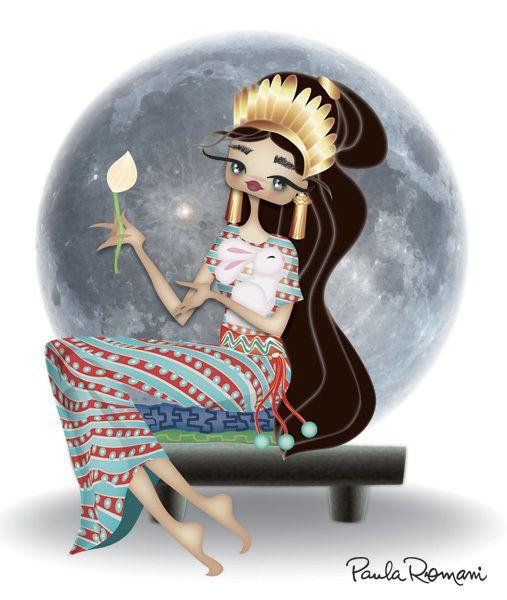 Illustration for magazine: Mayan Astrology by Paula Romani, via Behance