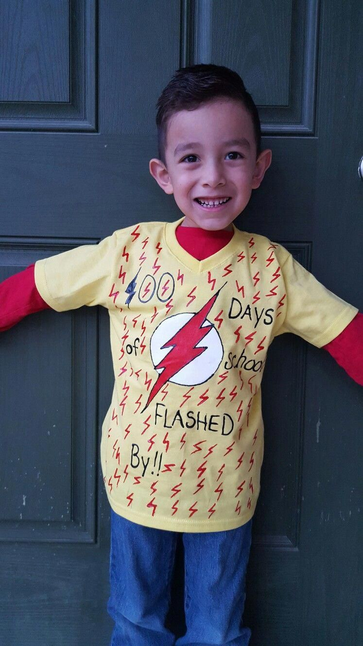 100 days of school #flash #kidflash #superhero #dc #100daysofschool #diy #craftymom #craft #100daysshirt